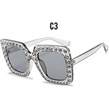 Burenqi  Diamant de luxe Square Lunettes de soleil Femme Lunettes de soleil  de marque cristal c09a860007e6