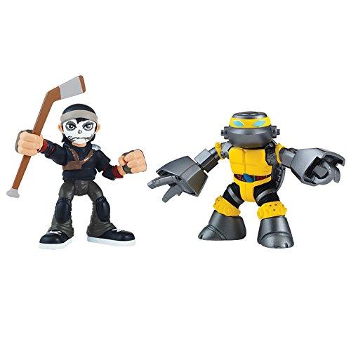Turtles Heros 2er Figuren Casey Jones & Metalhead - Teenage Ninja Turtles
