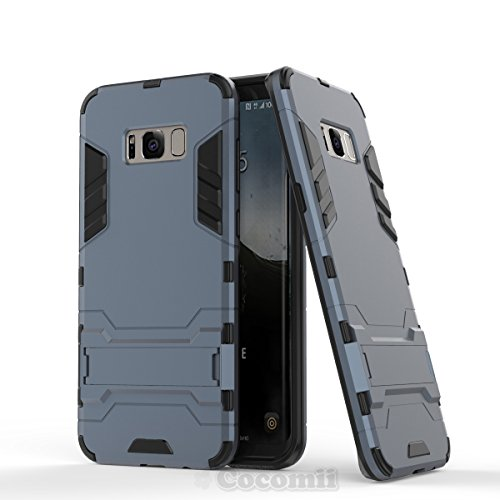 Galaxy S8 Plus Funda, Cocomii Iron Man Armor NEW [Heavy Duty] Premium Tactical Grip Kickstand Shockproof Hard Bumper Shell [Military Defender] Full Body Dual Layer Rugged Cover Case Carcasa (Black)