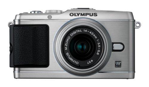 Olympus PEN E-P3 Fotocamera Mirrorless, CMOS da 12.3 Megapixel, Kit con Obiettivo Zoom 14-42 mm, Silver