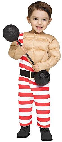 r Kinder Kostüm für Jungen Schausteller Zirkus Muskeln, Kindergröße:6 bis 18 Monate (Kleinkind Zirkus-kostüme)