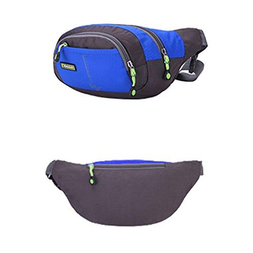 Wasserdichte Hüfttasche für Jogging Fitness Radfahren Fahrrad Motorrad MTB Bergsteigen Wandern Klettern Trekking... Outdoor Aktivitäten Blau