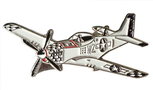 WW2WWII P51American Mustang USAF USA aerei militari Badge in metallo smaltato