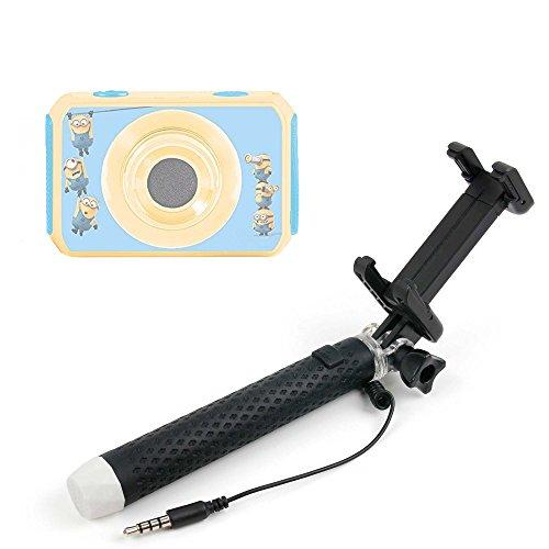 Mini selfie stick portatile per videocamera digitale lexibook cars move cam dja400dc - frozen move cam dja400fz - cattivissimo me dja400des estendibile / telescopico - con pulsante - alta qualità