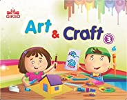 Gikso Art and Craft 3 – Activity Book for Kids Age 6 to 9 Years Old Includes Colouring Activities (English) -