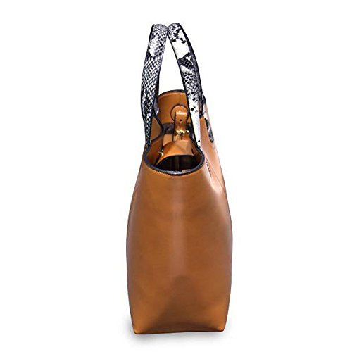 Fanmingsidi, Borsa a mano donna giallo Yellow Brown