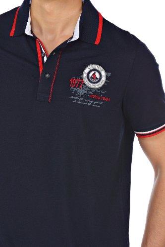 M.Conte Herren Polo-Shirt Polohemd Polo Kurzarm Polokragen Rot Blau Weiss M L XL XXL XXXL Onorio Dunkelblau