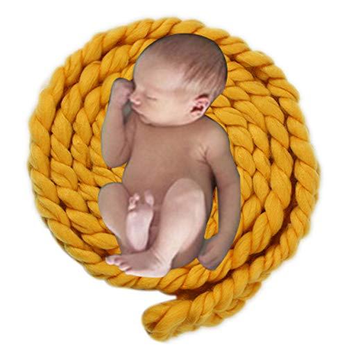 Mibuy Baby Fotografie Requisiten Matte Handgemacht Weben Weich Decke Foto Prop Wickeln Hintergrund Teppich Fotografischen Tuch Neugeborene Weiches Swaddling