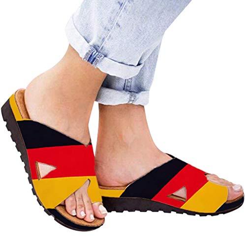 Innerternet Frauen Bequeme Plattform Sandale Schuhe Sommer Strand Reise Schuhe Dicke Bottomed Sandal Schuhe Keilabsatz Sandalen Klippzehe Sommer Strand (Athena Mädchen Kostüme)