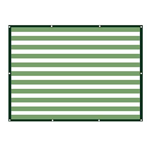 Brise-vue etpare-soleil pour jardin LAOSUNJIA Abat-Jour d'épaississement extérieur en Filet de polyéthylène Haute densité (Couleur : Green White, Taille : 2M*2M)