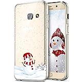Compatible pour Galaxy A5 2017 Coque Silicone TPU Transparente Housse Crystal Souple Motif Noël Ultra-Mince de Protection Couverture Etui Coquille Etui pour Samsung Galaxy A5 2017,#1047