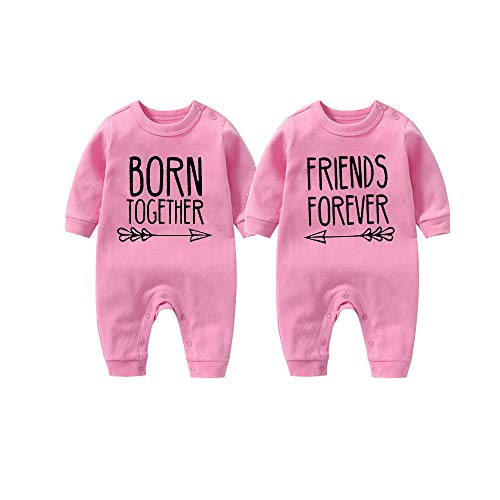 culbutomind Beste Freunde Für Immer Fun Baby-Strampler Baby Geschenke Geburt Erstausstattung(Pink 4-6 Months)