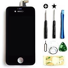 MMOBIEL LCD pantalla delantera de repuesto para IPhone 4 (Negro) Incluye kit de 7 herramientas premium y manual de instrucciones