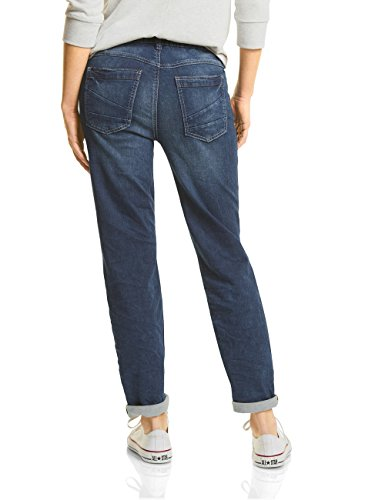 Street One Damen Slim Jeans 371175 Bonny Blau (Mid Blue Random Bleach Wash 11132)