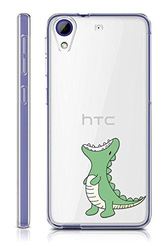 Coque Pour HTC Desire 650 / 628 / 626 / 626G , Sunrive® Silicone Étui Housse Protecteur souple TPU Gel transparent Back Case(tpu Dinosaure)+ STYLET OFFERTS