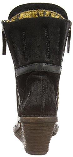 Fly London Simi, Stivaletti alla caviglia, imbottitura leggera donna Nero (Black/black 000)