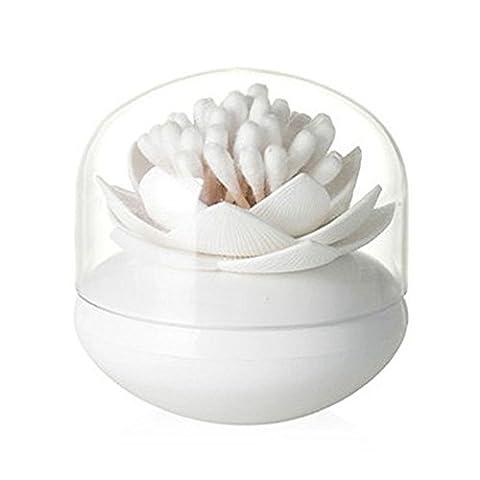 LanLan Small Q-tips Toothpicks Organizer Cosmetic Storage for Bathroom Vanity