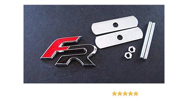 FR Metallo Carbonio Nero Polvere Tappi valvola Badge Styling Cupra Leon Ibiza Copa 6pcs Set Sedile