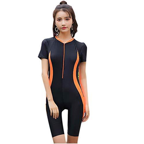 MMWAfrauen die Ausbildung - Sport - Badeanzug wettbewerbsfähigen tauchen schnell trocknenden konservativen Badeanzug,Abbildung 1,XL