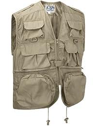 Gilet Utilitaire Sans Manches Multi-poches - Beige, XX-Large