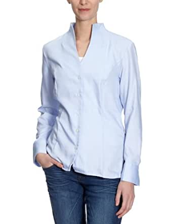 Jacques Britt Damen Businessbluse  61.973001 CITY-BLUSE 1/1-LANG, Gr. 36 (S), Blau (12 - bleu)