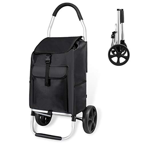 And With BagMax Capacity Trolley Kg45l Shopping On Lightweight Wheels Detachable TrolleyFolding Mfavour 45 Large Cart VUSMpqz