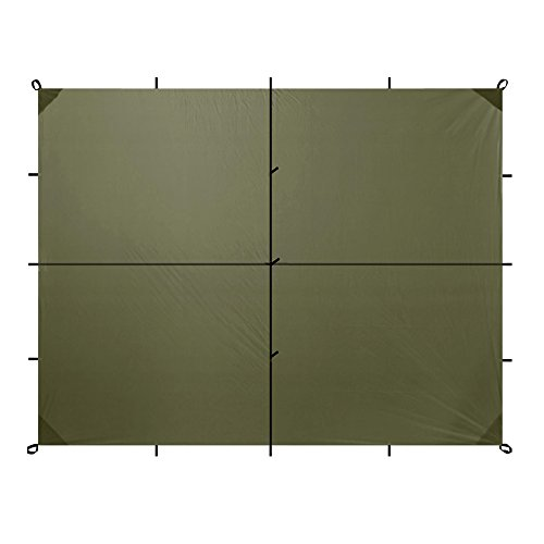 Aqua Quest Safari Sil Tarp - 100% Wasserdicht- 4 x 3 m Groß - Olivgrün