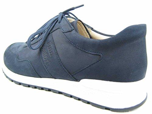 Marine-blau-leder-heels (Finn Comfort Prezzo 01370-046046 Herren Schnürschuh Sportiv Naturform Buggy Blau (Marine), 42 EU / 8 UK)