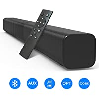 VANZEV Barre de Son sans Fil TV Haut-Parleur Bluetooth 5.0 110 DB 32 Pouces 50W Subwoofer Intégré Son Surround Home Cinéma - Télécommande - Fixation Murale - Compatible Optique AUX TF Coax & RCA
