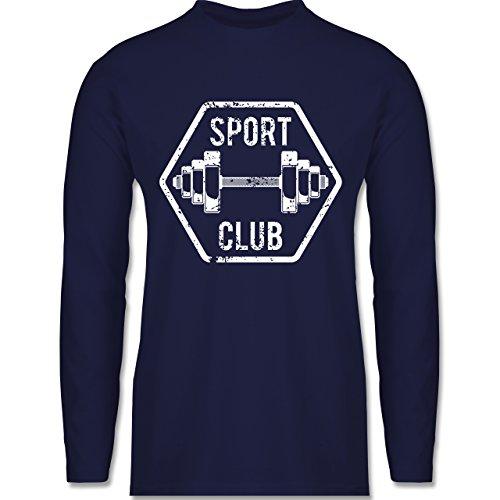 CrossFit & Workout - Sport Club - Longsleeve / langärmeliges T-Shirt für Herren Navy Blau
