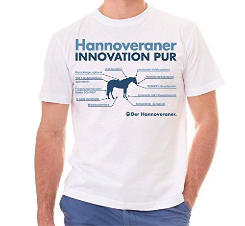 Siviwonder Unisex T-Shirt INNOVATION - HANNOVERANER - Pferde Fun reiten Weiß