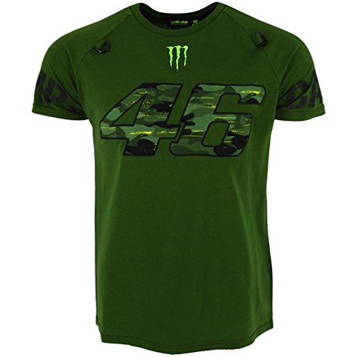 Valentino Rossi VR46 Moto GP Monster Camp Edition Verde Camiseta Oficial 2018