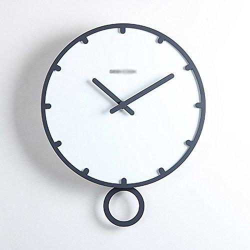 ASL Personalisierte Uhren Mode Wanduhr Quarz Uhr Wand Diagramme Kreative Holz Wohnzimmer Mute Einfache moderne Rundschreiben Neu ( Farbe : A , größe : 30cm ) (Asl-diagramm)