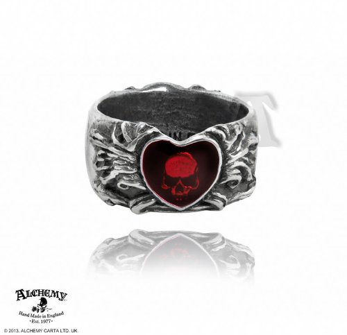 Alchemy Gothic Gebrochenes Herz Ring (Alchemy Gothic Schädel Ring)