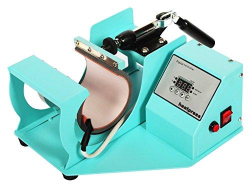 RICOO Transferpresse Sublimation Tassenpresse Krugpresse Krug Glas für zylindrische Tassen Ricoo M 505 Farbe:Türkisblau