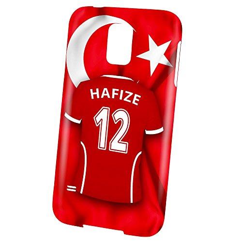 PhotoFancy – Samsung Galaxy S5 Handyhülle Premium – Personalisierte Hülle mit Namen Hafize – Case mit Design Fußball-Trikot Türkei EM 2016