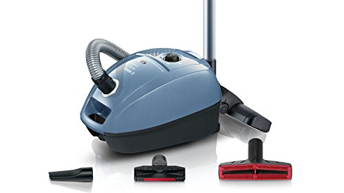 Bosch ProCarpet Care Bodenstaubsauger (mit Beutel, niedriger Stromverbrauch, Turbodüse, 10 Jahre Motorgarantie, 800 Watt) silberblau