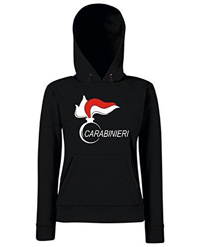 T-Shirtshock - Sweats a capuche Femme OLDENG00436 carabinieri (3) Noir