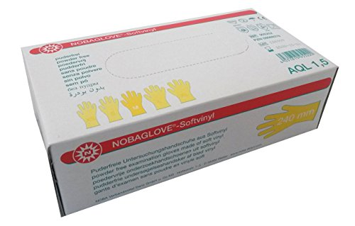 NOBAGLOVE Softvinyl puderfrei Einmalhandschuhe Gr. M 100 St