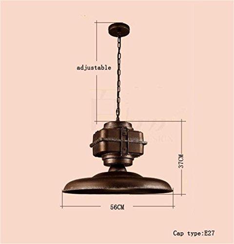 Gute Qualität-- Amerikanischen Industrie Wind Retro-Bar, Café, Bar, Club Steampunk -Loft schmiedeeiserne Kronleuchter Dekorative Kronleuchter -