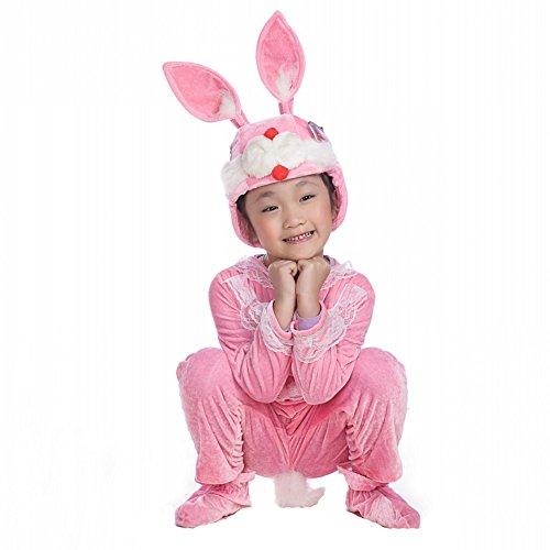 Honeystore Kind's Unisex Hase Kostüm Abend Kleider Pyjamas Cosplay Alltagskleidung Siamesische Kleidung (Zwilling Kostüm Parasitärer)