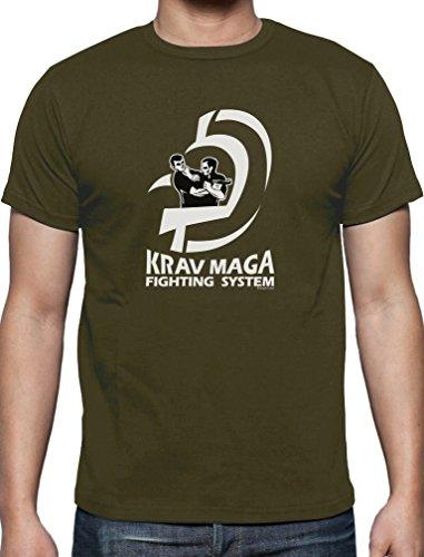 Präsent für Krav Maga Movement Fans T-Shirt Olivgrün