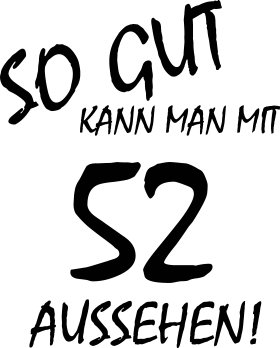 Mister Merchandise Cooles Herren T-Shirt So gut kann man mit 52 aussehen! Jahre Geburtstag Navy