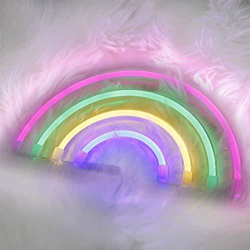 Niedliche Regenbogen-Neonzeichen LED Regenbogen-Licht für Dorm Dekor USB 3-AA batteriebetriebenes Regenbogen-Dekor-Neon-Lampen-Wand-Dekor für Mädchen Schlafzimmer Weihnachten Geburtstags-Party Wohnzi