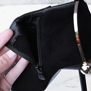 Heart&M Da donna Stivaletti Footing Comoda Innovativo Decolleté Stivali Stivaletti alla caviglia Anfibi Suole leggerePelle nubuck Materiali black