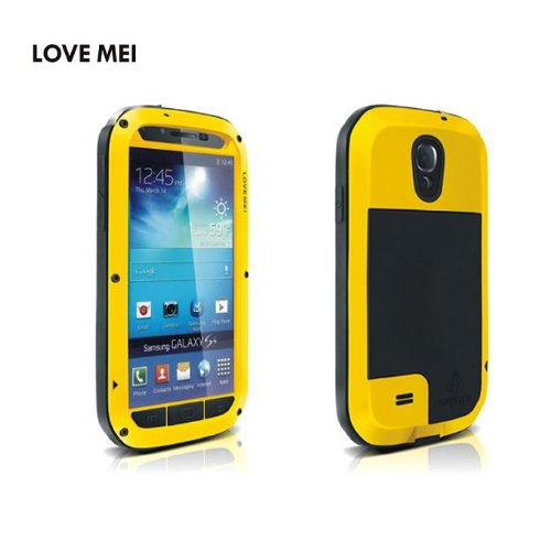 Geekbuying Weather Dirt Shock proof Protective Case Cover for Samsung Galaxy S4 IV i9500 (Yellow)