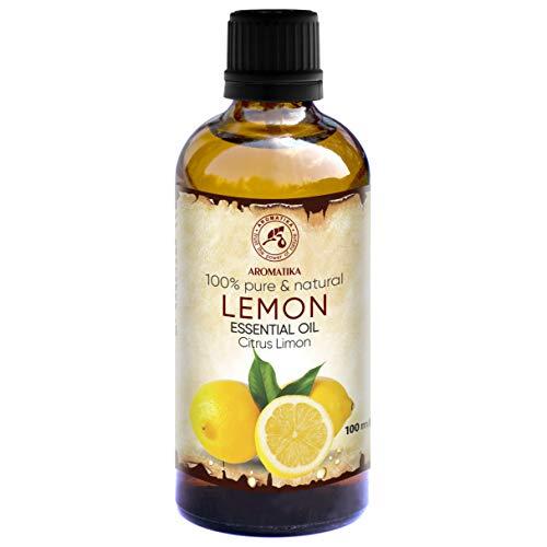 Huile de Citron 100ml - Citrus Limon - Italie - Huile Essentielle 100% Naturelle - pour Cheveux - Massage - Aromathérapie - Détente - Aroma Diffuser - Lemon Essential Oil