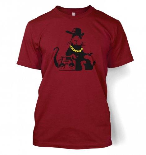 NY Ghetto Ratte Männer T-Shirt Scharlachrot