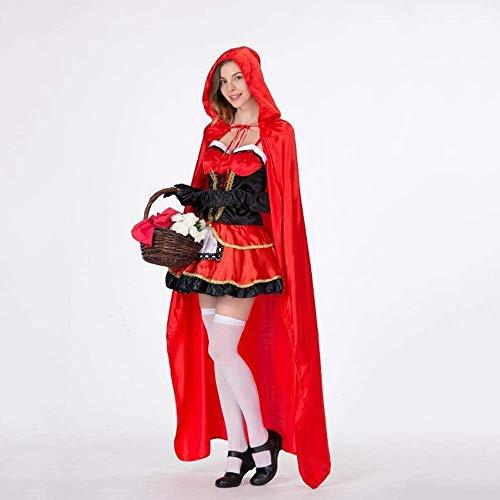 PIN Costumi di Halloween Costume da donna di Halloween Femmina Adulto Sexy Cappuccetto rosso Costume da strega Costume Uniforme da ballo,A,S