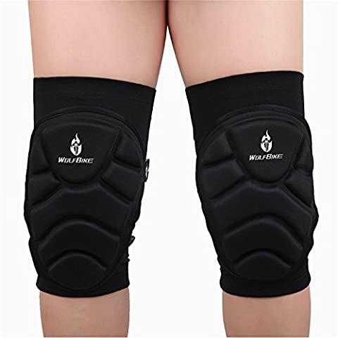 UWILD ® 2 Stück Sport Elastische Kniestütze Sport Knieschoner Kniebandage Knieorthese Knieschützer (2 pcs) -Knieprotektor beim Laufen Jogging Fitness (L)